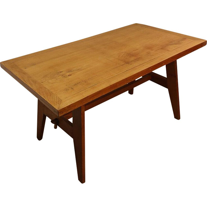 Vintage dining table by René Gabriel 1950s