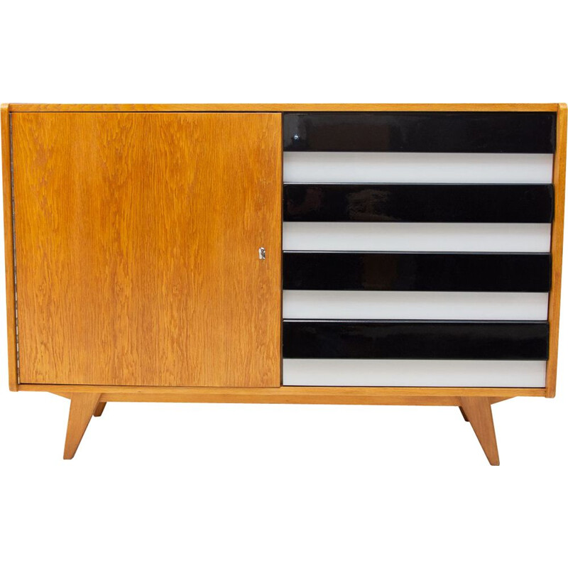 Vintage chest of drawers U-458 by Jiri Jiroutek, Czechoslovakia 1960s