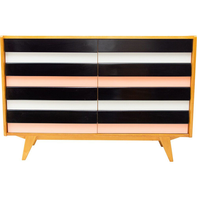 Vintage modernist chest of drawers No U-453 by Jiří Jiroutek, Czechoslovakia
