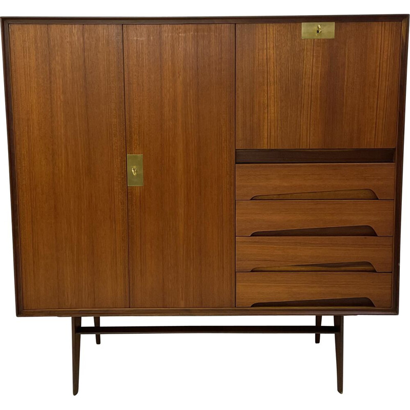 Vintage highboard by vittorio dassi, Italian 1950s