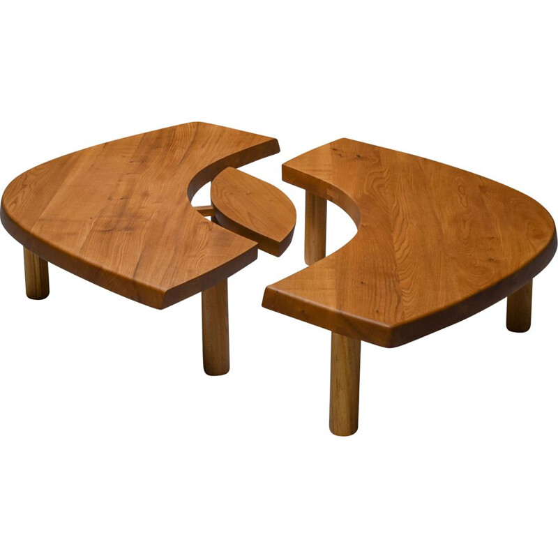 Vintage 'T22C' coffee table by Pierre Chapo, France 1972