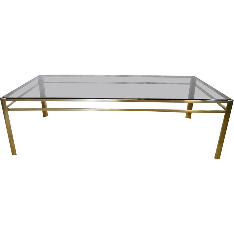 Vintage bronze coffee table by Jacques Quinet and Broncz 1960