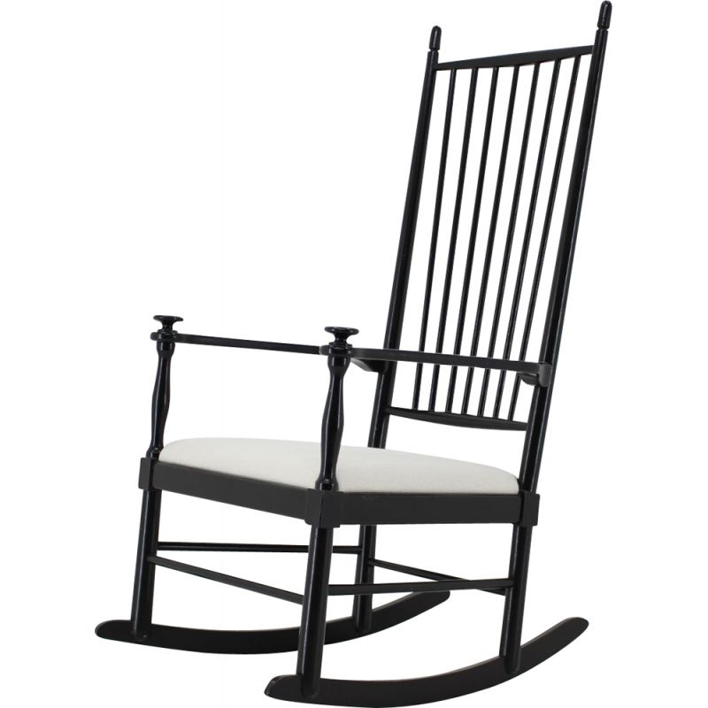 Vintage wooden rocking chair, Denmark 1960
