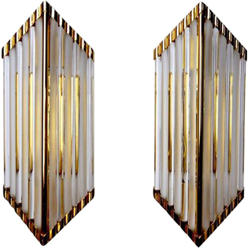 Pair of vintage sconces by Venini, Italy 1980s