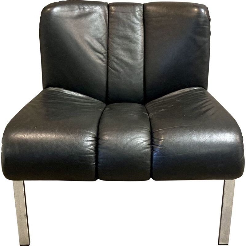 Vintage leather armchair 1960s