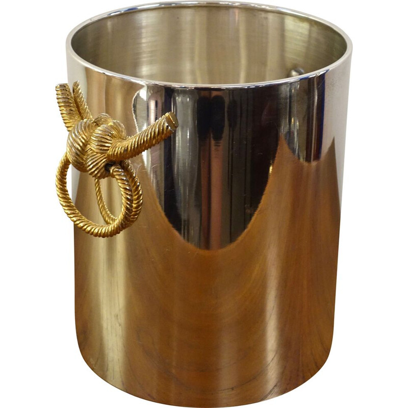 Vintage champagne bucket by Maison Lancel, France 1970
