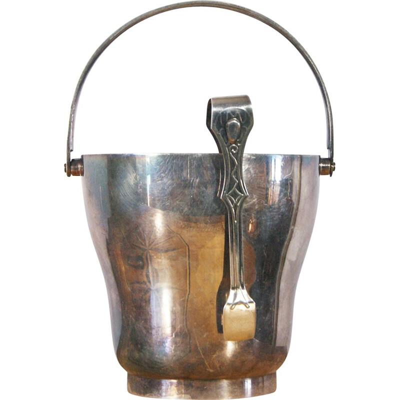 Vintage Modernist Silver-Plated Ice Bucket 1930s