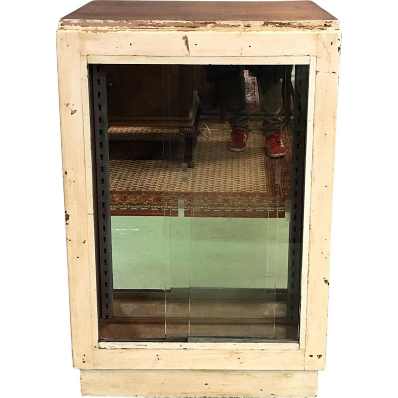 Vintage store counter with sliding doors 1930s