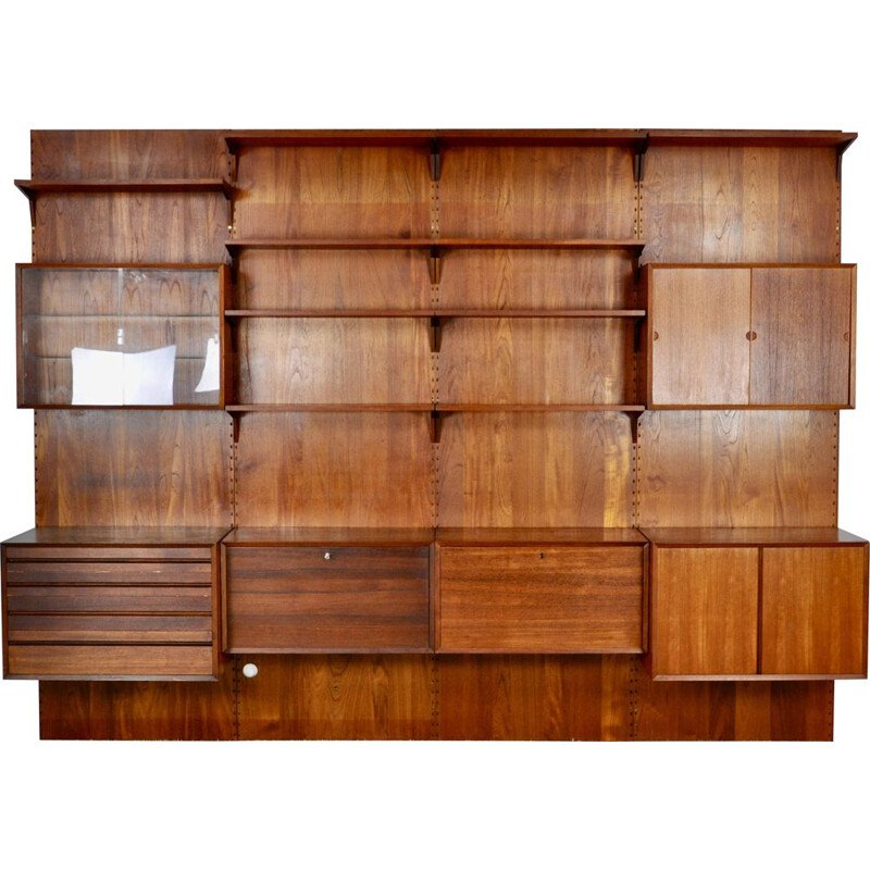 Vintage Royal System wall unit by Poul Cadovius 1960