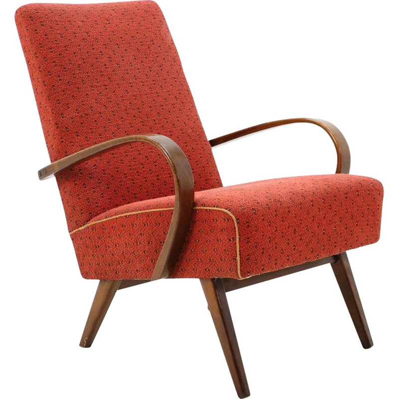 Vintage bentwood armchair by Thon Thonet, Czech Republic 1960