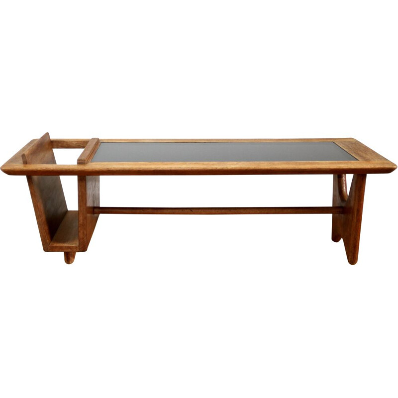Vintage coffee table by Guillerme et Chambron 1950