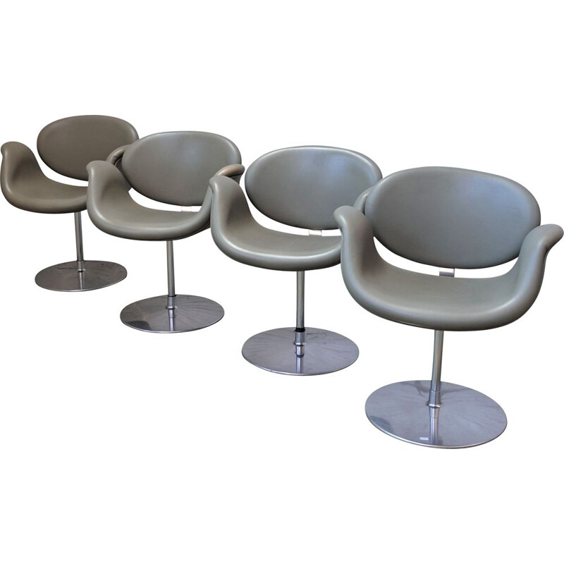 Set of 4 vintage Tulip chairs by Pierre Paulin