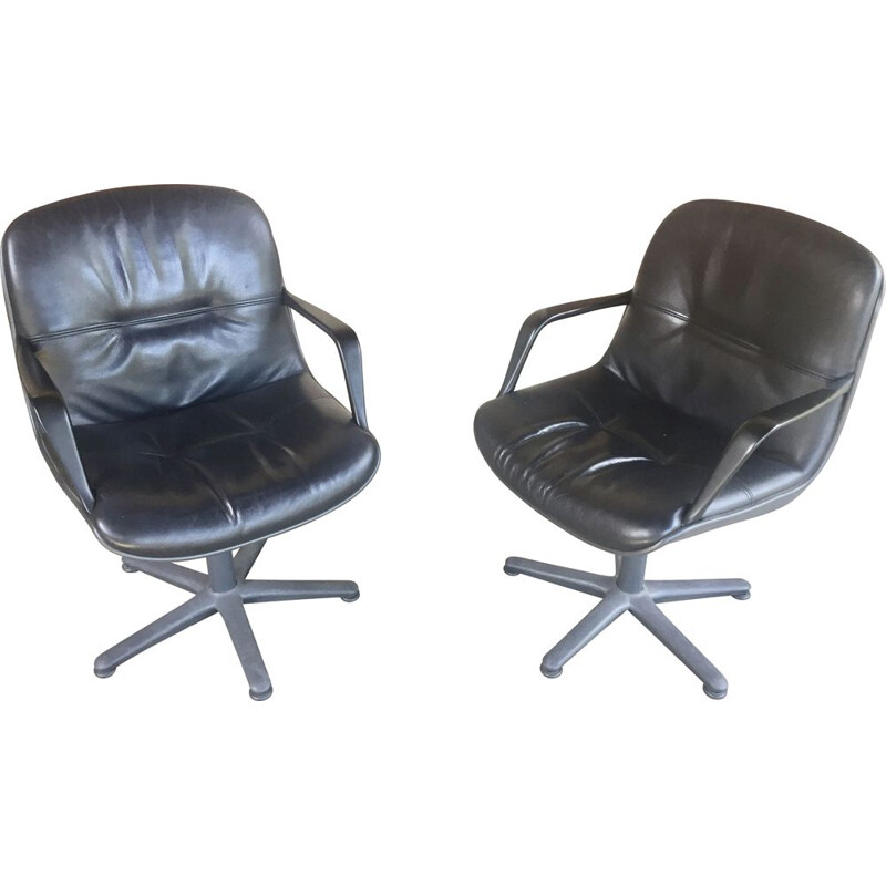 Pair of vintage office chairs 1970s