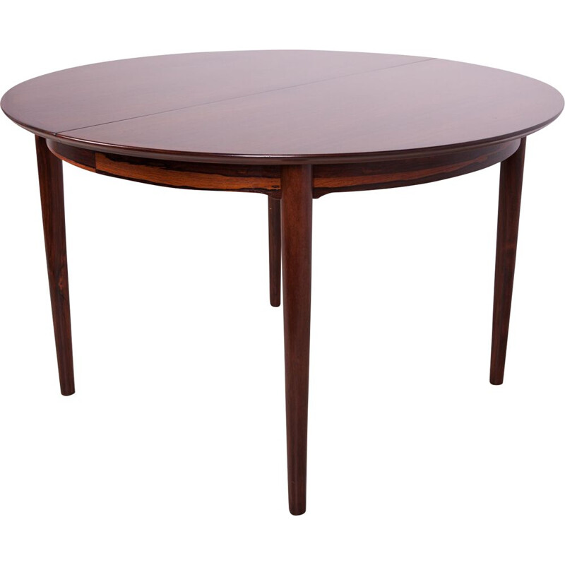 Vintage Rosewood Extendable Dining Table by Arne Vodder for Sibast, Danish 1960s