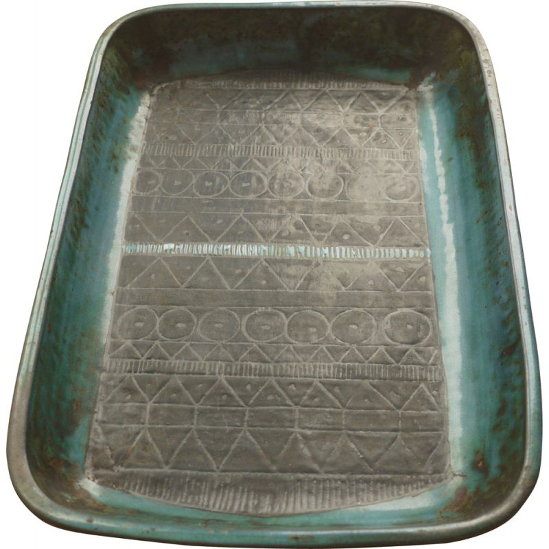 Vintage abstract ceramic dish from Troika 1960