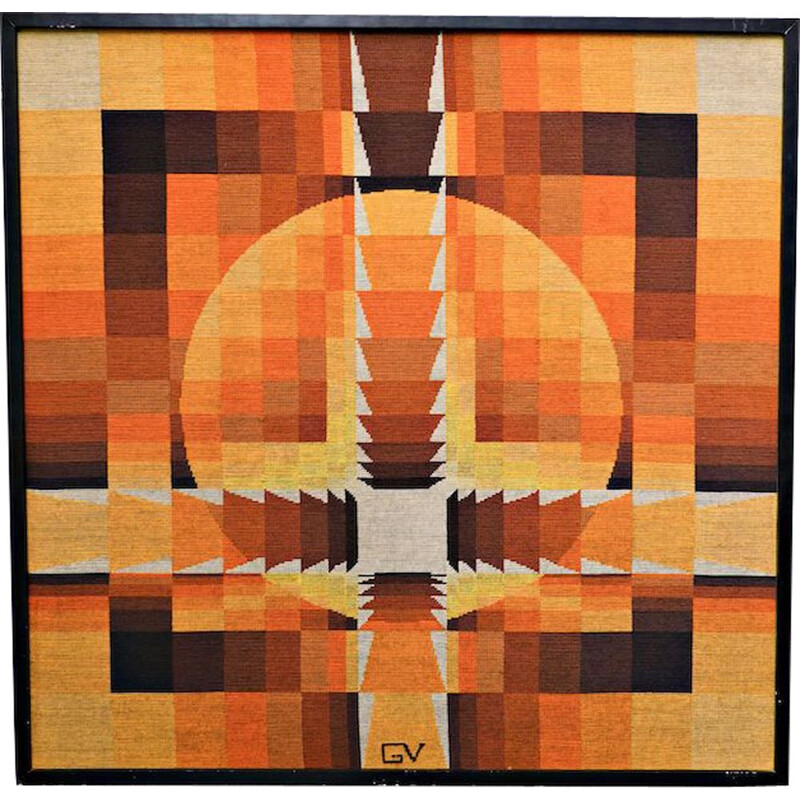 Vintage tapestry by Georges Vaxelaire, Belgium 1970