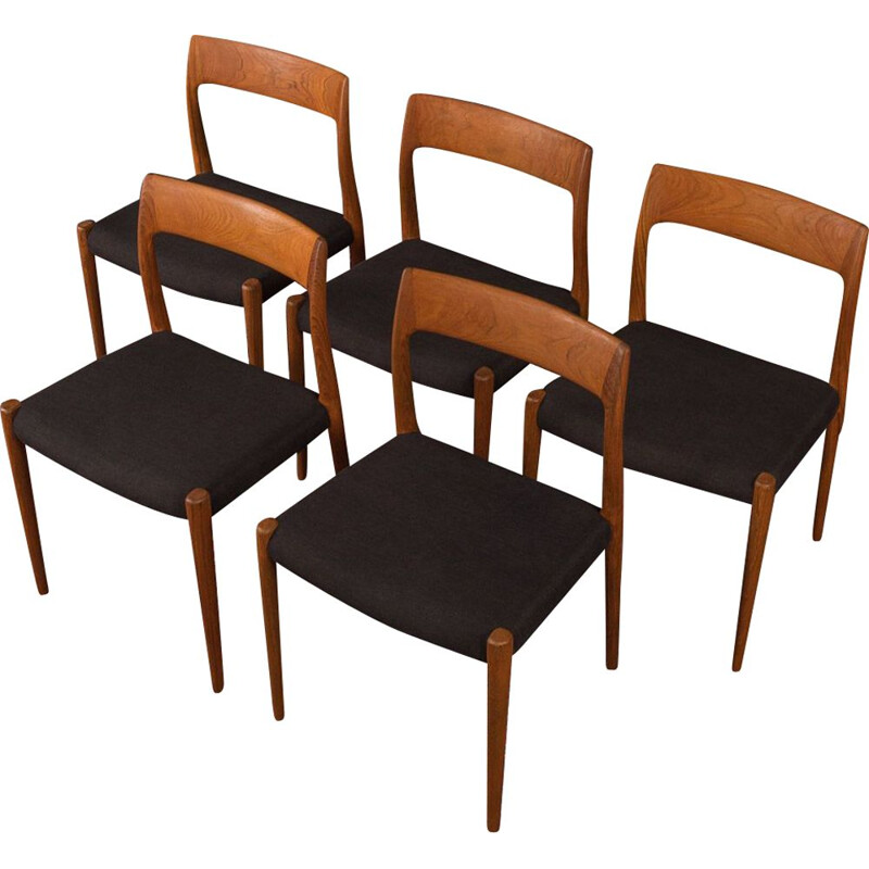 Vintage Dining Chairs by Niels O.Moller, Denmark 1950s