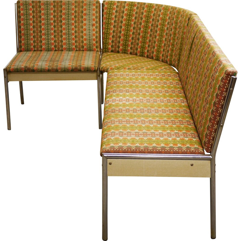 Vintage Upholstered SofaBench by EKA Wohnmobel, German 1960s