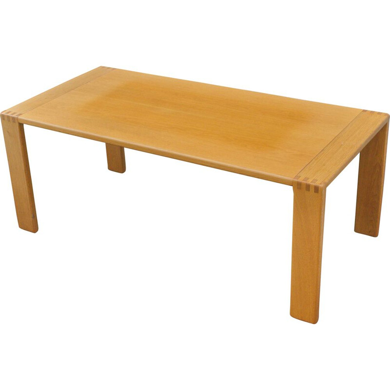 Vintage Oak Coffee table from E. Pajamies for ASKO 1970s