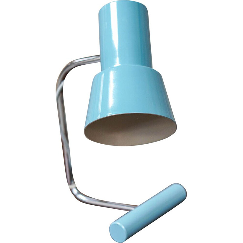 Vintage Table lamp by Josef Hurka for Napako blue 1960s
