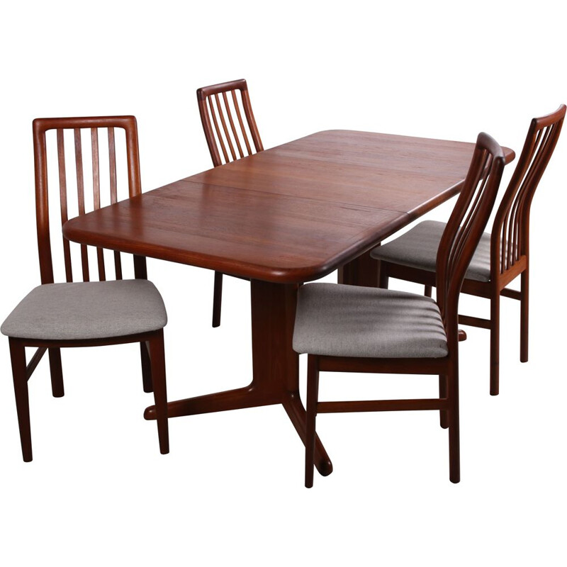 Vintage Dining table with 4 chairs Kvadrat fabric, Denmark