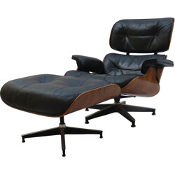 Herman Miller lounge armchair and ottoman, Charles & Ray EAMES - 1970s