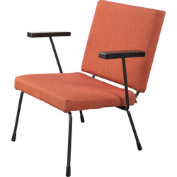 Gispen orange armchair, Wim RIETVELD - 1960s