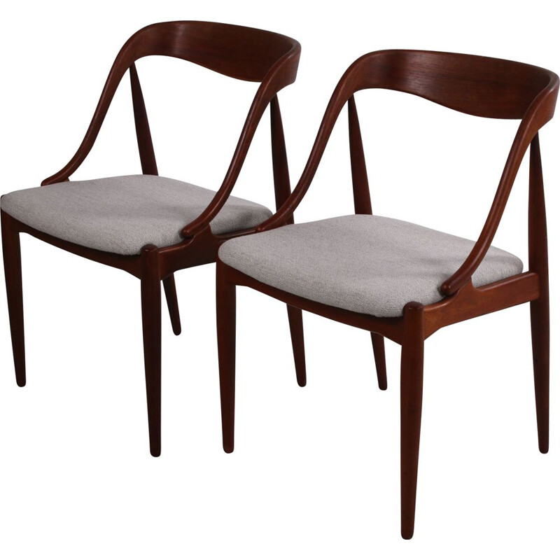 Pair of vintage dining room chairs by Edmund Jorgenson for Uldum Mobelfabric 1950s