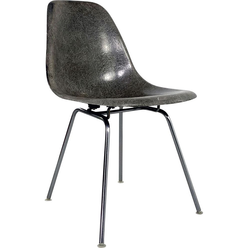 Vintage Grey DSX Side Chair by Charles & Ray Eames for Herman Miller, 1960s