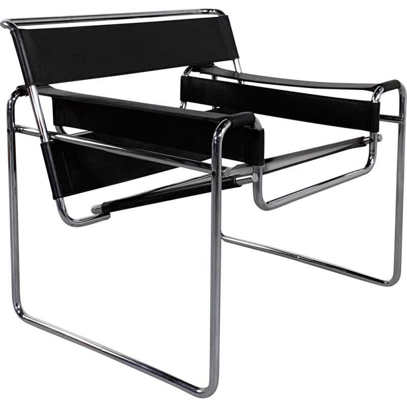 Vintage Wassily B3 Armchair by Marcel Breuer for Gavina, 1960s