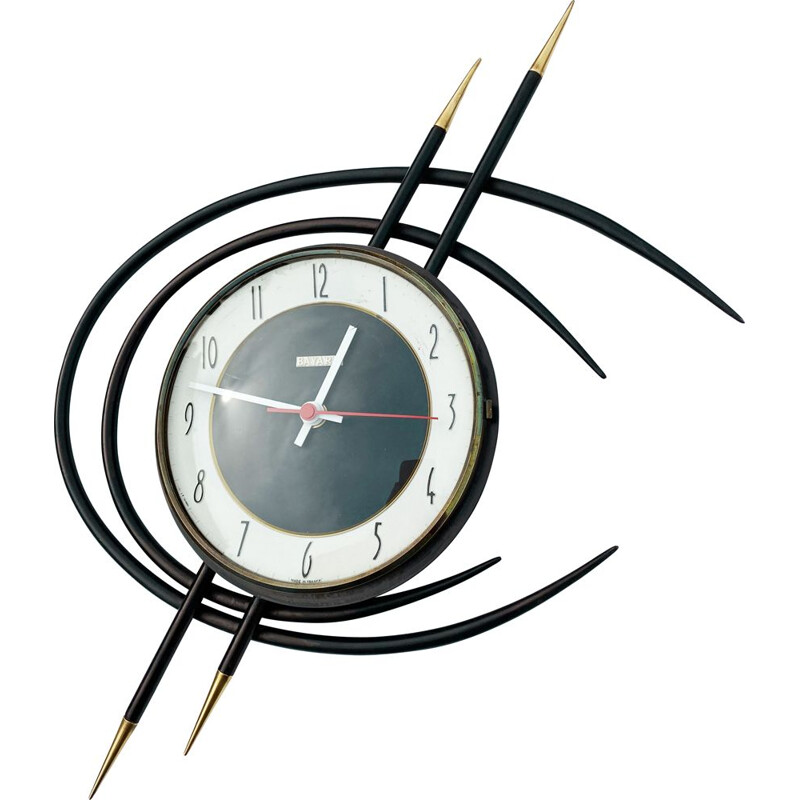 Vintage wall clock Space Age, France 1960s