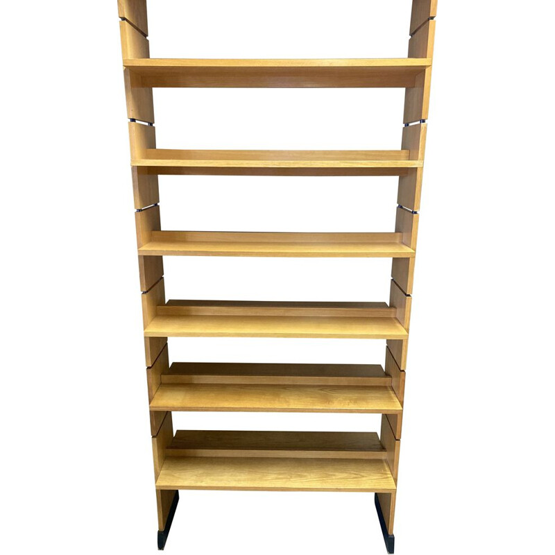 Large vintage bookcase or modular claustra in ash 1950s