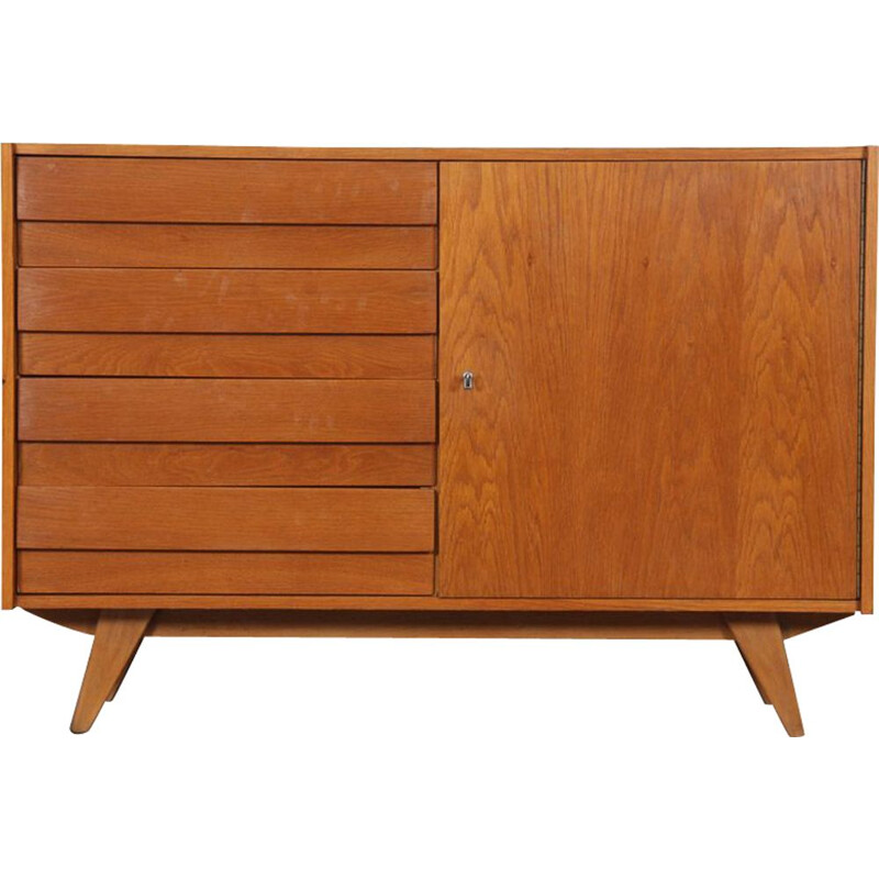 Vintage chest of drawers model U-458 by Jiri Jiroutek for Interier Praha 1960s