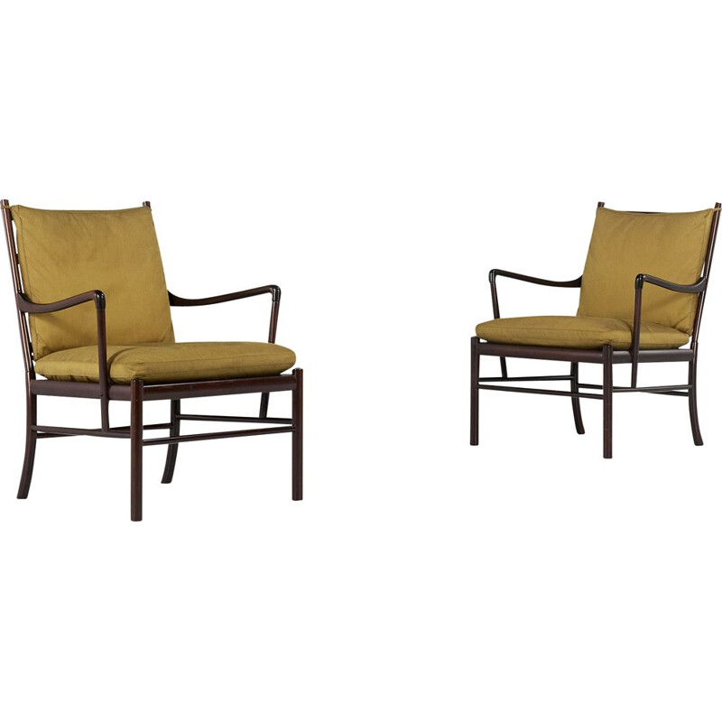 Pair of vintage armchairs Pj 149 by Ole Wanscher for Poul Jeppesen, Denmark 1950s