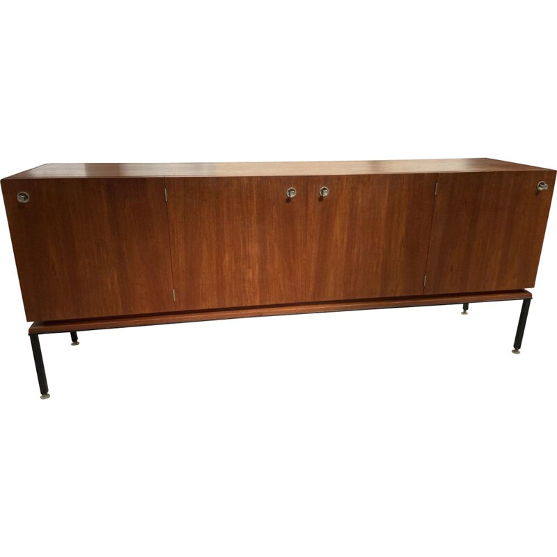 Vintage sideboard with 3 cabinets Alain Richard 1960s