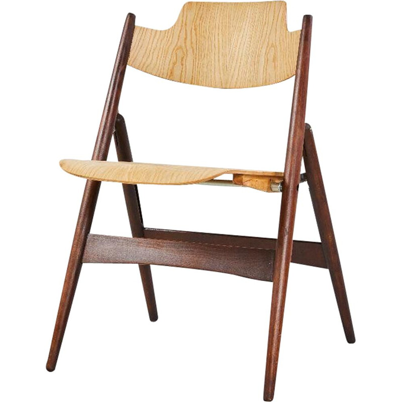 Vintage Model SE18 Foldable Chair by Egon Eiermann for Wilde and Spieth 1952s