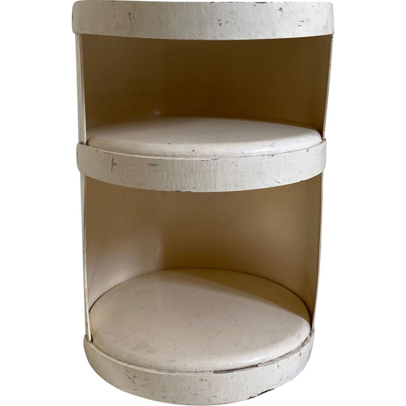 Vintage shelf in thick white lacquered cardboard by Jean-Louis Avril 1960s