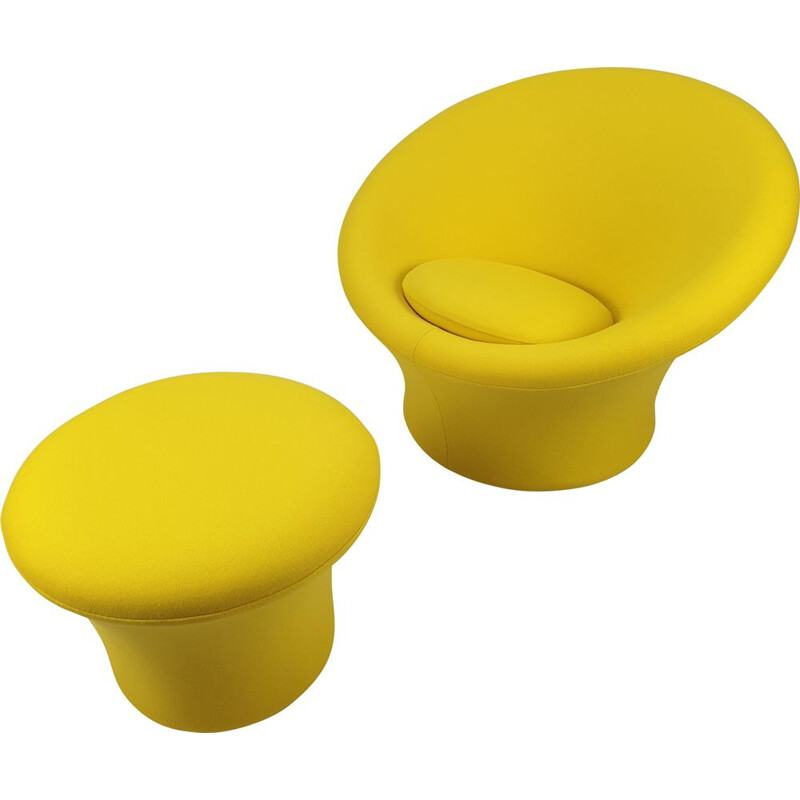 Vintage Mushroom Armchair & Pouf by Pierre Paulin for Artifort 1960s