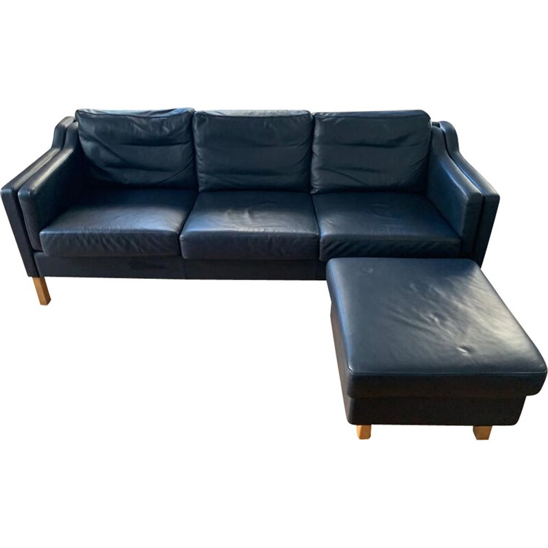Vintage blue sofa from Borg Mogensen