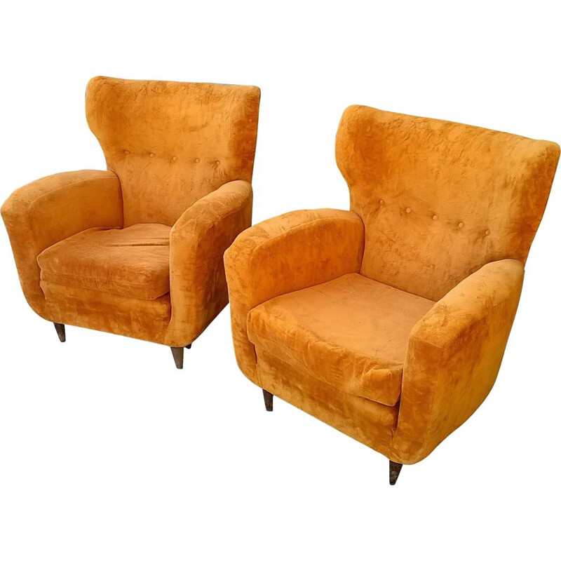 Pair of vintage Armchairs by Paolo Buffa, Italy 1940s