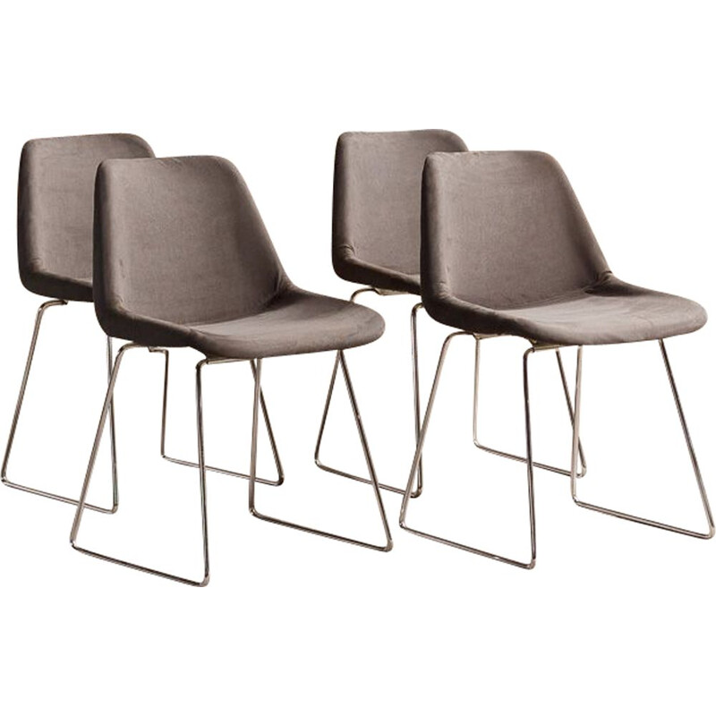 Set of 4 vintage Polyprop chairs by Robin Day 1970s