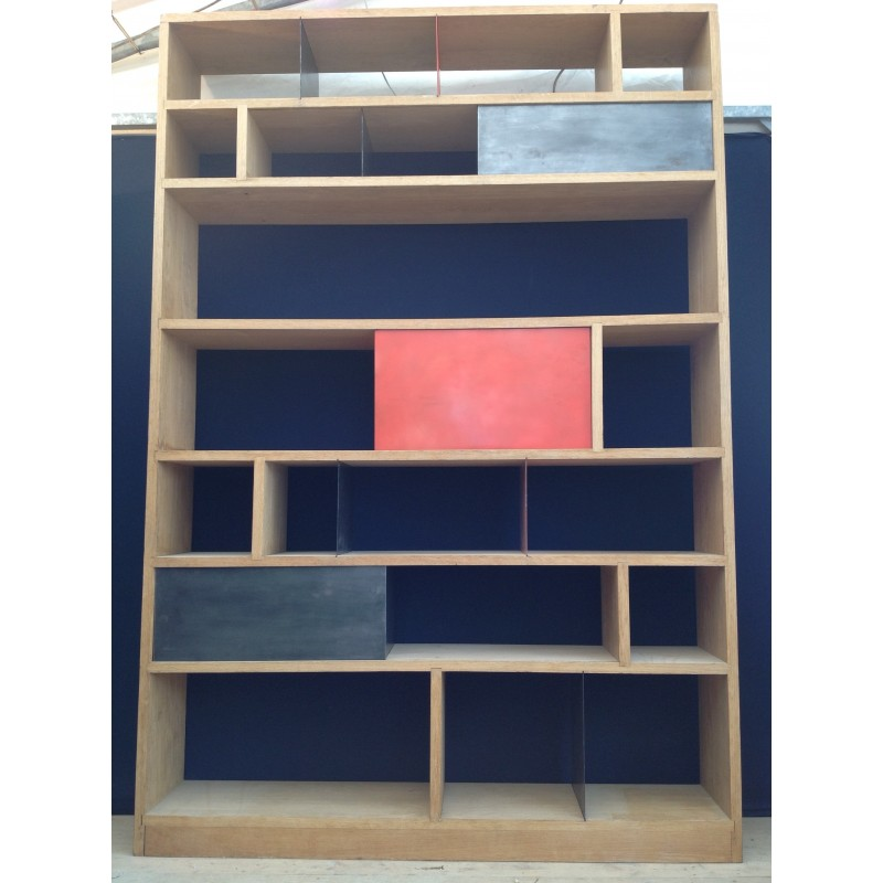 Atelier 154 bookcase in solid oak - 2000s - Design Market