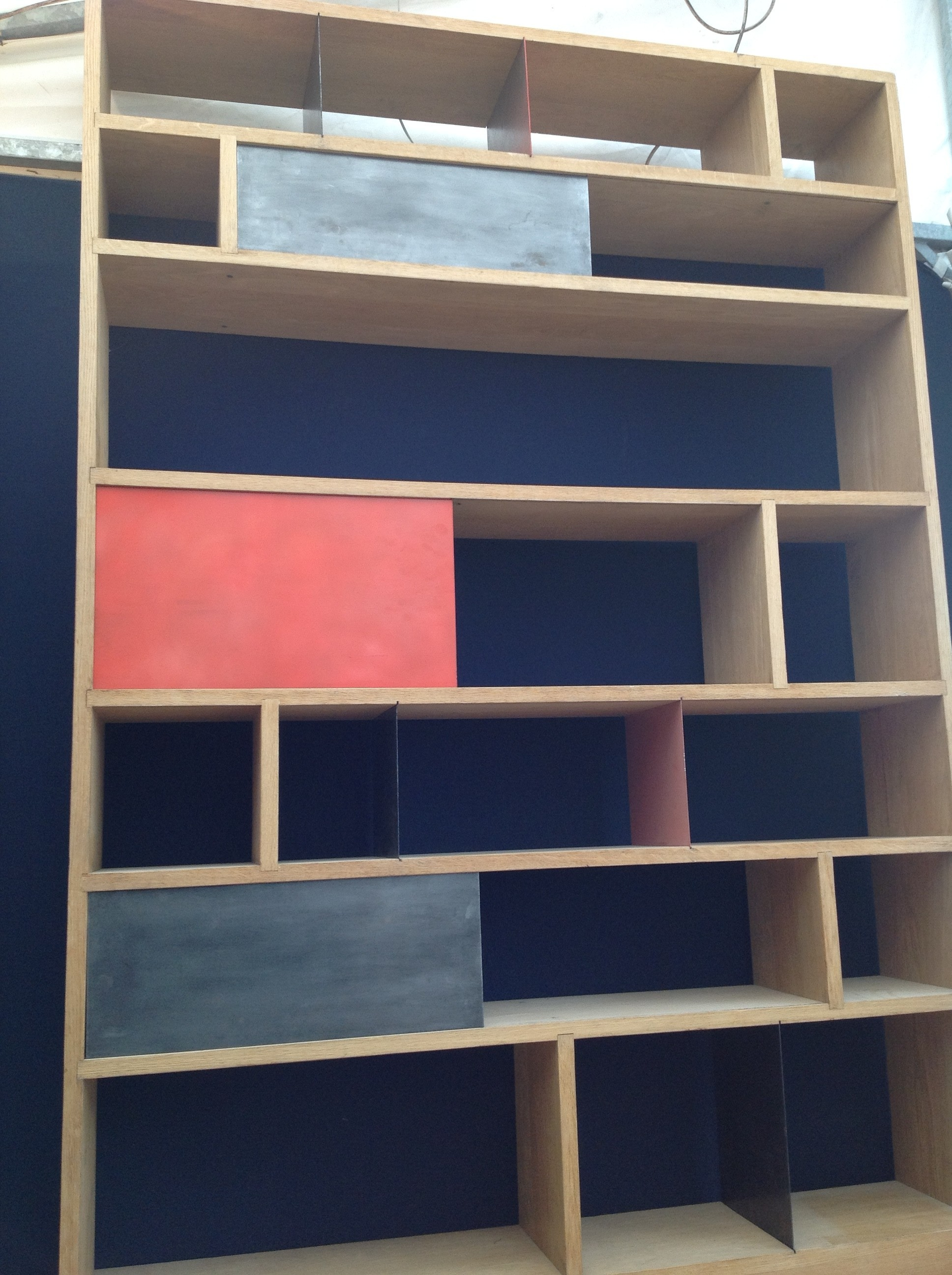 Atelier 154 bookcase in solid oak - 2000s - Design Market