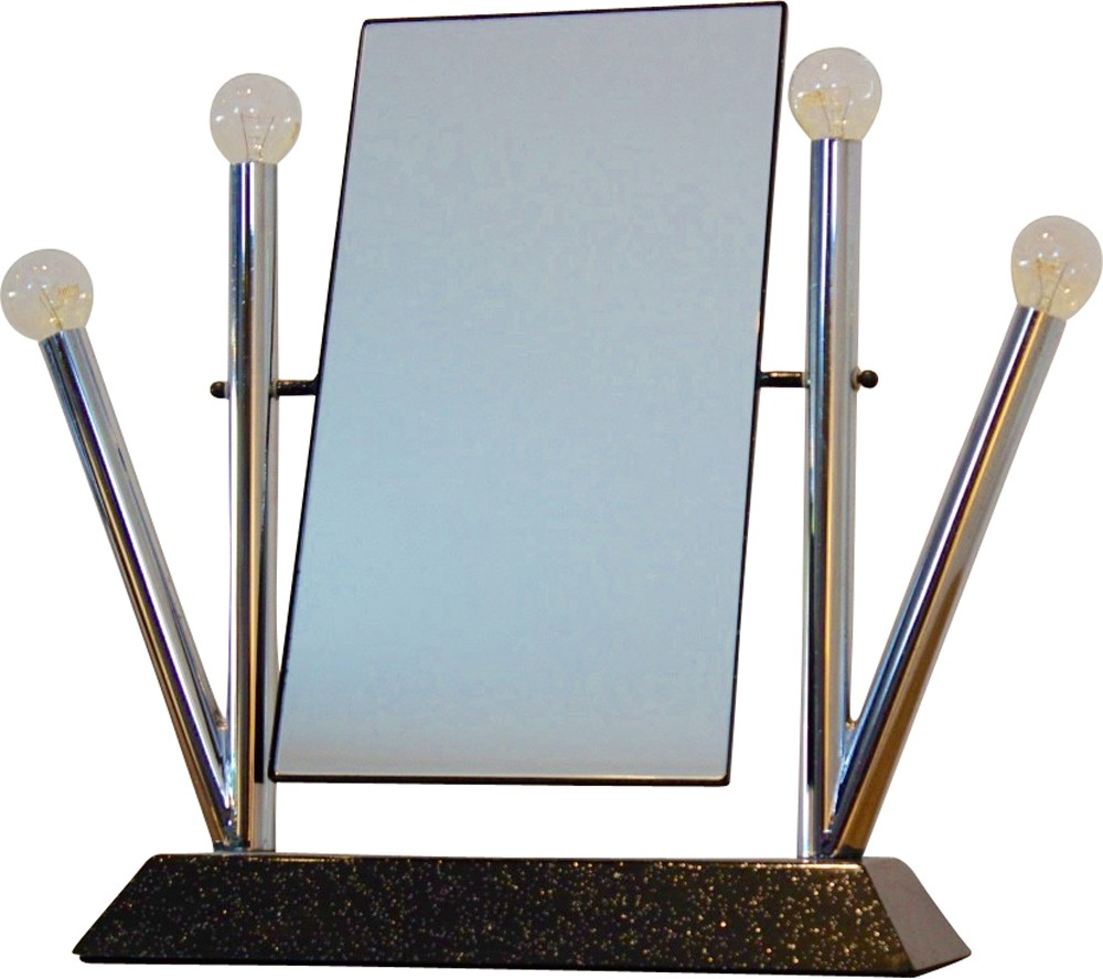 Italian Bieffeplast Yucca Table Mirror In Chromed Steel Anna  # Meuble Tv Yucca
