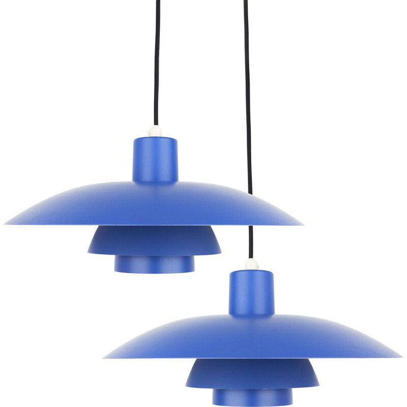 Pair of vintage pendant lamps PH 43 by Poul Henningsen & Louis Poulsen, Danish 1966s