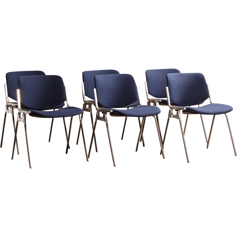 Set of 6 vintage Castelli chairs model DSC106 by Giancarlo Peretti 1970s