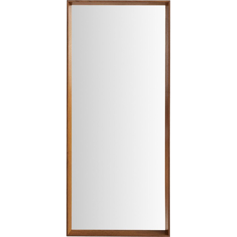 Vintage mirror in oak by Holmer-Hansen for Risskov Spejle, Danish 1960s