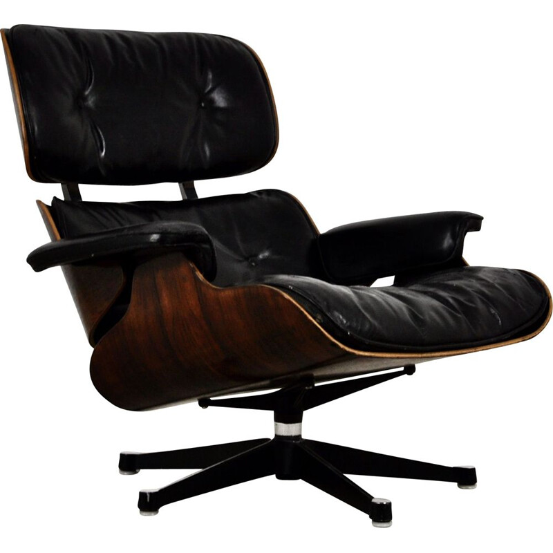 Vintage Lounge Chair by Charles & Ray Eames for Herman Miller 1970s