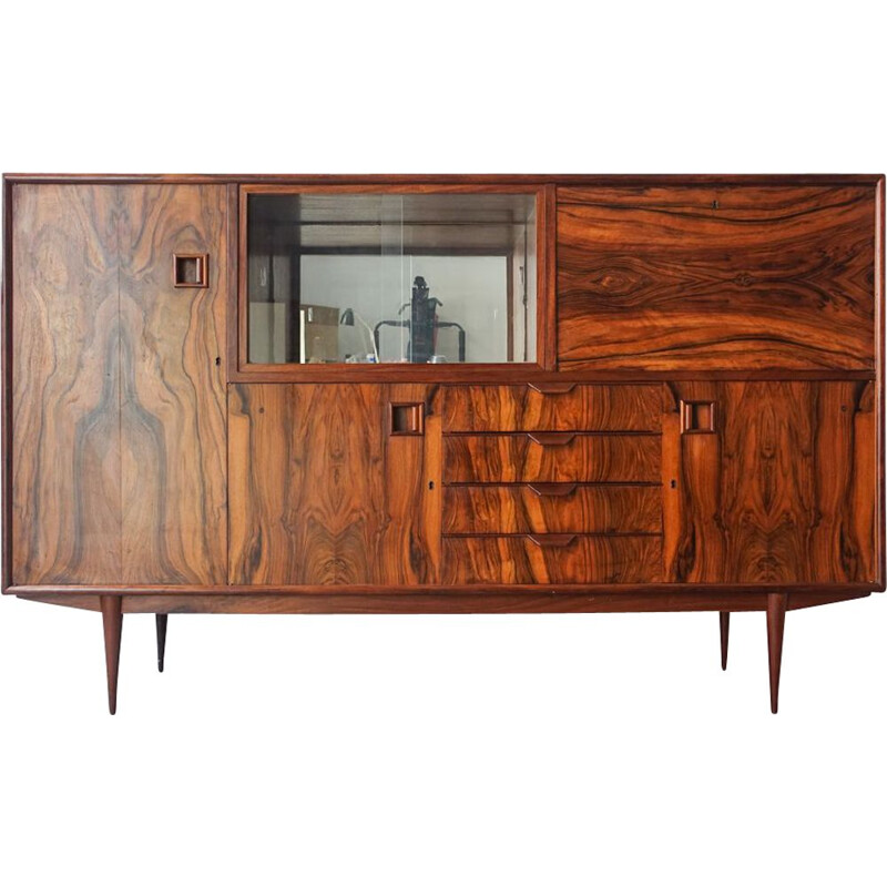 Vintage José Espinho Rosewood Sideboard for Moveis Olaio, Portugal 1960s