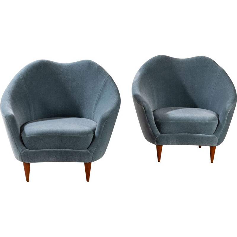 Pair of vintage armchairs by Federico Munari, Italy 1960s